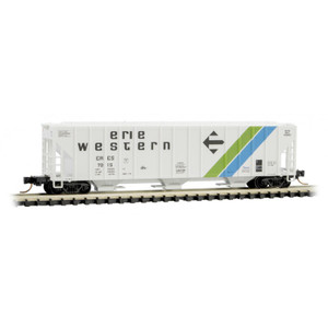 Micro-Trains 099 00 210 Erie Western 3-bay Covered Hopper #7015 N scale