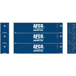 Athearn RTR 23349 AFCO/Shipping Line 45' Container 3-pack HO