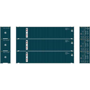 Athearn RTR 24561 Wan Hai 45' Container 3-pack HO
