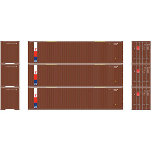 Athearn RTR 29191 TransAmerica 40' Container 3-pack HO