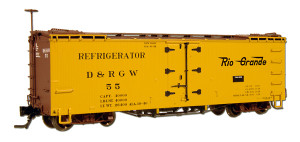 "Blackstone B340811 HOn3 D&RGW 30' Refrigerator Car #54 ""Flying Grande"" Herald"