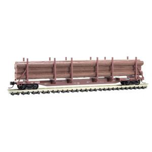 Micro-Trains 115 00 072 Norfolk Southern 65' 100-ton Log Car w/load #111537 N scale