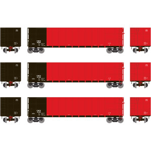 Athearn RTR 16473 Commonwealth Edison CWEX Thrall High Side Gondola #2 3-pack HO