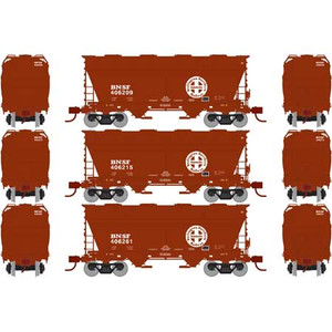 Athearn RTR 23444 BNSF 2970 Covered Hopper 3-pack N Scale