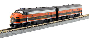 KATO N scale 106-0420 Great Northern F7AB Road #444A & 444B