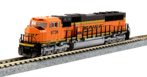 KATO N scale 176-6320 BNSF SD70MAC #9736 DC
