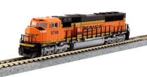 KATO N scale 176-6321-DCC BNSF SD70MAC #9748 DCC