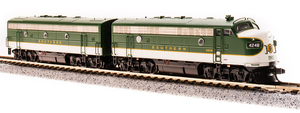 BLI 3808 EMD F7 A/B SOUTHERN 4248/4414 As-Delivered Green, A-unit Paragon3 Sound/DC/DCC, Unpowered B, N Scale
