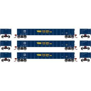 Athearn N 1389 CRLE Gondola Connection 52' Mill Gondola 3-car set N scale