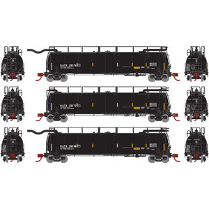 Athearn N 15021 GATX/Late Tank Train A/B ends & Intermediate 3-car set N scale