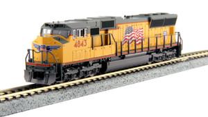 Kato N Scale 176-8609-DCC Union Pacific SD70M #4843 DCC NO sound