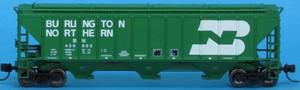 Trainworx 24411-04 Burlington Northern PS2CD 4427 high side covered hopper N scale #450802