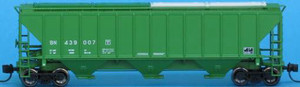 Trainworx 24411-07 Burlington Northern PS2CD 4427 high side covered hopper N scale #439007