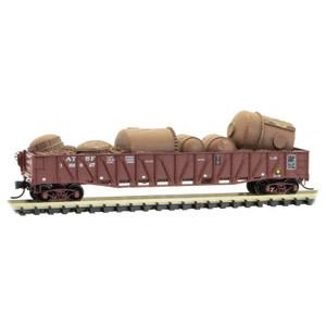 Micro-Trains 062 00 080 Santa Fe 50' Gondola w/load #169627 N scale