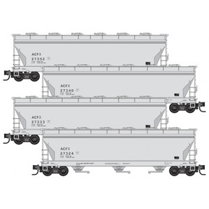 Micro-Trains 993 00 165 ACFX 3-Bay Covered Hoppers 4-pack N scale
