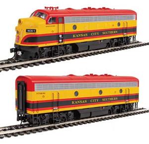 """Walthers Mainline 910-19952 KCS EMD F7AB #1/3 """"Shreveport/Pittsburgh"""" DCC/Sound HO"""