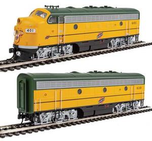 Walthers Mainline 910-19948 CNW EMD F7AB #402/411 DCC/Sound HO