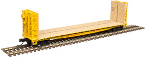 Atlas N scale 50004821 Union Pacific 48' GSI Bulkhead Flat Car #15066