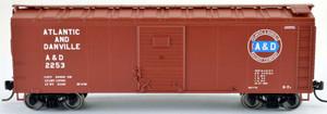Bowser 42421 Atlantic & Danville 40' Box Car #2290 RTR HO scale