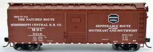 Bowser 42446 Mississippi Central RR 40' Steel Side Box Car #5018 RTR HO scale