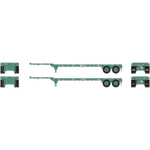 Athearn 14292 China 40' Chassis 2 pack HO