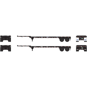 Athearn N 14297 Trac 40' Chassis 2 pack N scale