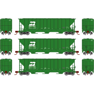 Athearn N 27438 BN PS 4427 Covered Hopper 3-car set N scale