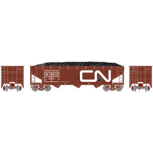 Athearn RTR 70285 CN Canadian National 40' 3-Bay Offset Hopper #322137 HO scale
