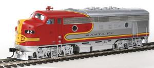 920-40699 WalthersProto Santa Fe F7A #42L DCC/Sound HO