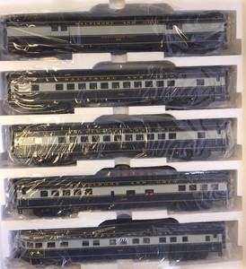 MTH O scale 20-65270 Baltimore & Ohio 70' ABS Smooth Side Passenger Set