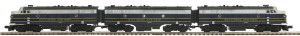 M-T-H O scale 20-20155-2 Baltimore & Ohio F3ABA set PS2 Scale Wheels, 2-rail,