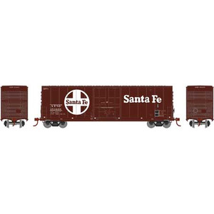 Athearn N 1463 Santa Fe 50' Smooth Side High Cube Plug Door Box car #151603 N scale