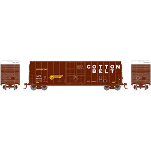 Athearn N 1467 Cotton Belt SSW 50' Smooth Side High Cube Plug Door Box car #24268 N scale