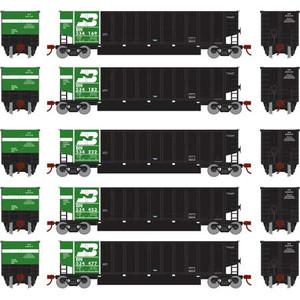 Athearn N 25057 BN Burlington Northern Coalporter w/load 5-car set N scale