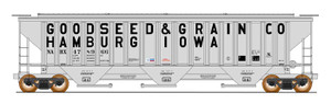 Intermountain 453107-01 Goodseed & Grain #478960 4750 CF Rib-Sided 3-bay Hopper NEW Date 5-78 HO