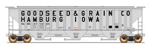 Intermountain 453107-02 Goodseed & Grain #478961 4750 CF Rib-Sided 3-bay Hopper NEW Date 5-78 HO