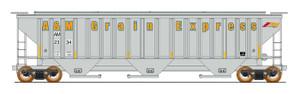 Intermountain 453100-01 A&M Grain Express #2334 4750 CF Rib-Sided 3-bay Hopper NEW Date 5-78 HO