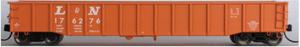 Trainworx 25209-07 L&N (Orange) 52' Gondola #176108 N scale