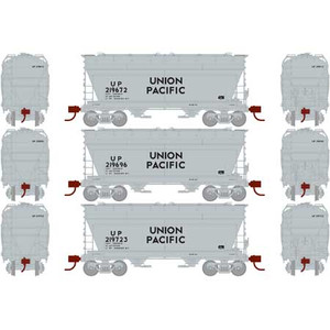 Athearn RTR 93998 Union Pacific ACF 2970 Covered Hopper 3-car set HO scale