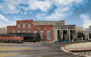 Walthers Cornerstone 933-3261 3-Add-On Stall for Modern Roundhouse N scale