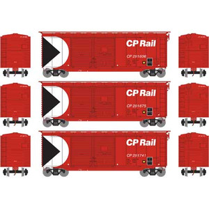 Athearn RTR 16049 CPRail 40' Double Door Box car 3-pack HO