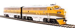 BLI 4844 EMD F7 A/B D&RGW 5601/5602 5-Stripe Scheme Paragon3 Sound/DC/DCC Unpowered B-unit HO