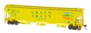 Intermountain 45330-08 Grain Train #1002 4750 CF Rib-Sided 3-bay Hopper NEW Date 5-78 HO