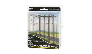 Woodland Scenics US2265 Single Crossbar Pole HO scale