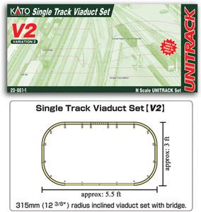 KATO N scale 20-861-1 V2 Viaduct Track Set