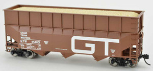 Bowser 42594 GT Grand Trunk Western 70T Rib Side Wood Chip #454001 HO scale