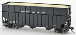 Bowser 42614 Ribbed Data Only Black 70T Rib Side Wood Chip HO scale