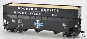 Bowser 42577 Boston & Maine B&M 70T Rib Side Wood Chip #7507 HO scale
