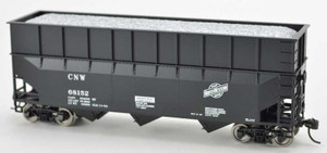 Bowser 42580 CNW Chicago North Western 70T Rib Side Wood Chip #68161 HO scale