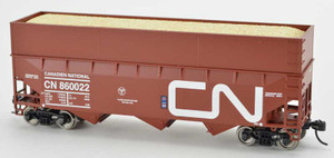 Bowser 42587 CN Canadian National 70T Rib Side Wood Chip #860083 HO scale